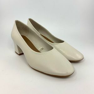 Zara Basic collection white pumps